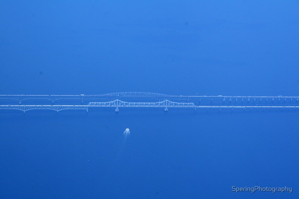 Ghostly view of Chesapeake Bay Bridge by SperingPhotography