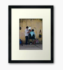 Short, back and sides Framed Print