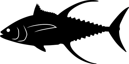 yellowfin tuna fish silhouette black photographic prints by