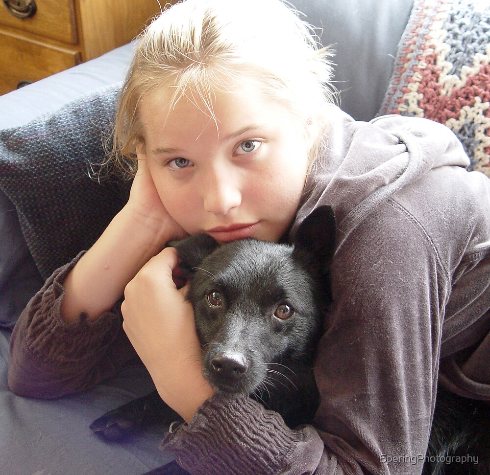 A Girl and Her Dog by SperingPhotography