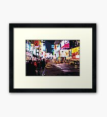 Colourful Times Square Framed Print
