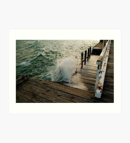 Choppy Seas,Queenscliff Pier Art Print