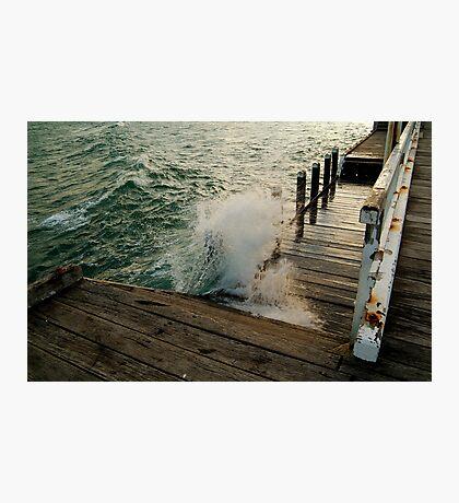 Choppy Seas,Queenscliff Pier Photographic Print