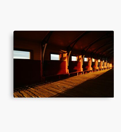 Queenscliff Pier Charm Canvas Print