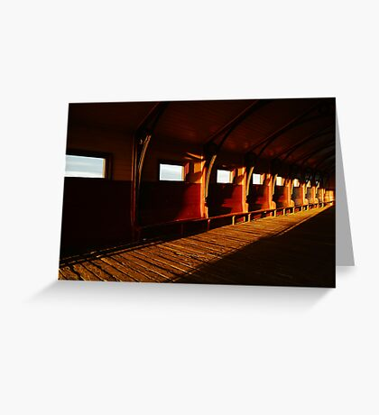 Queenscliff Pier Charm Greeting Card