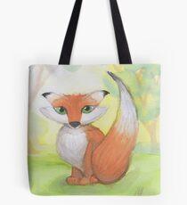 Little cute red fox Tote Bag