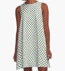 Vineyard Green Polka Dots A-Line Dress