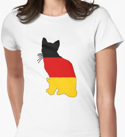 German Flag - Cat Womens Fitted T-Shirt