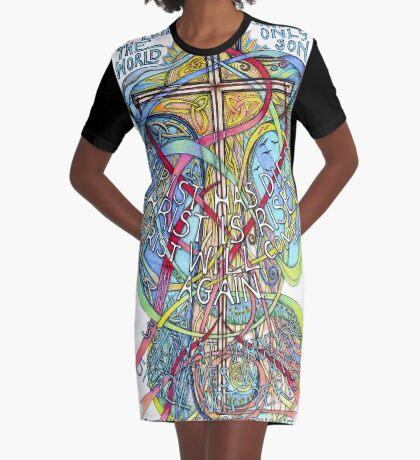 Christ is Risen Graphic T-Shirt Dress