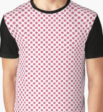 Hot Pink Polka Dots Graphic T-Shirt