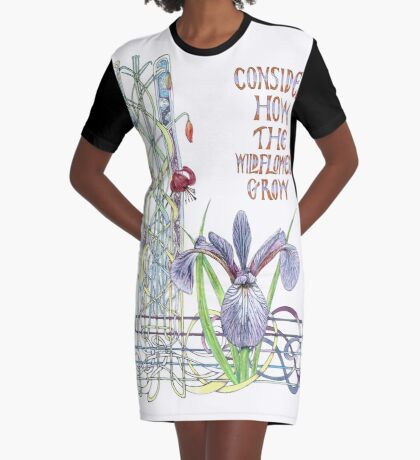 Consider the Wild Flowers Graphic T-Shirt Dress