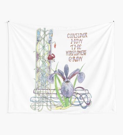 Consider the Wild Flowers Wall Tapestry