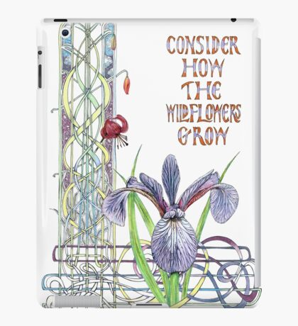 Consider the Wild Flowers iPad Case/Skin