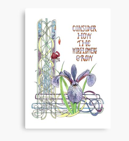 Consider the Wild Flowers Canvas Print