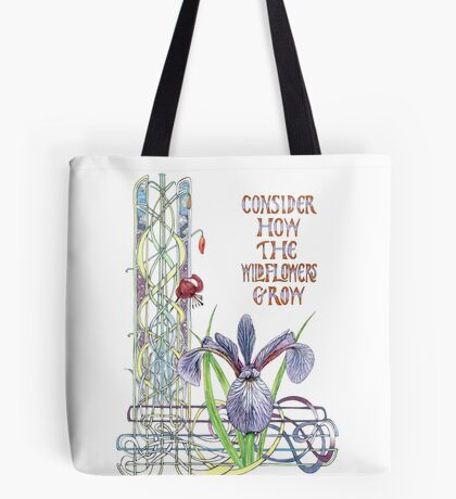 Consider the Wild Flowers Tote Bag