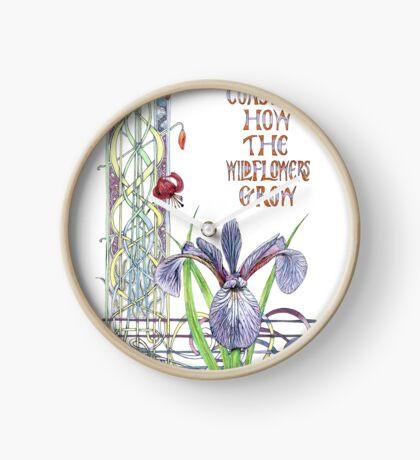 Consider the Wild Flowers Clock
