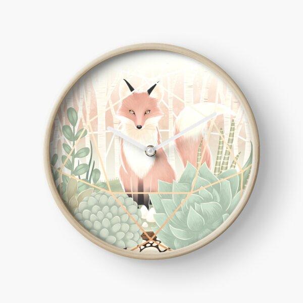 Terrarium - fox Clock