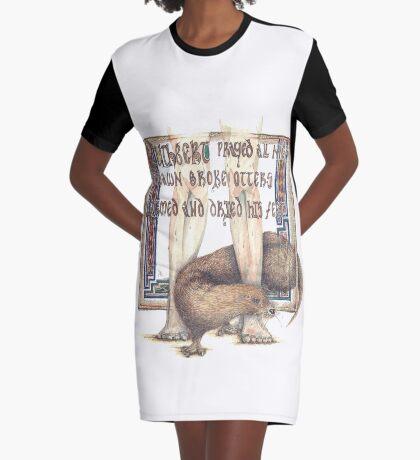 St. Cuthbert and the Otter Graphic T-Shirt Dress