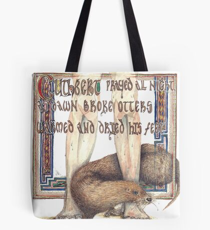 St. Cuthbert and the Otter Tote Bag