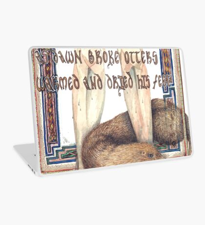 St. Cuthbert and the Otter Laptop Skin