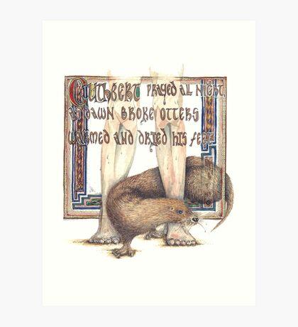 St. Cuthbert and the Otter Art Print