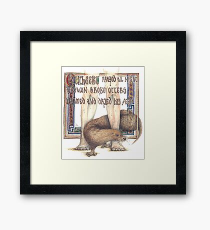 St. Cuthbert and the Otter Framed Print