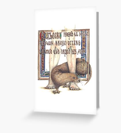 St. Cuthbert and the Otter Greeting Card