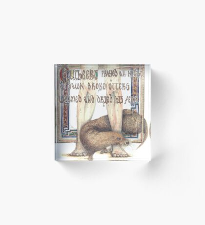 St. Cuthbert and the Otter Acrylic Block