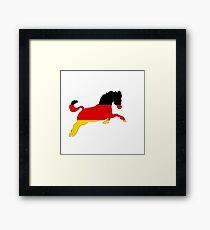 German Flag - Horse Framed Print