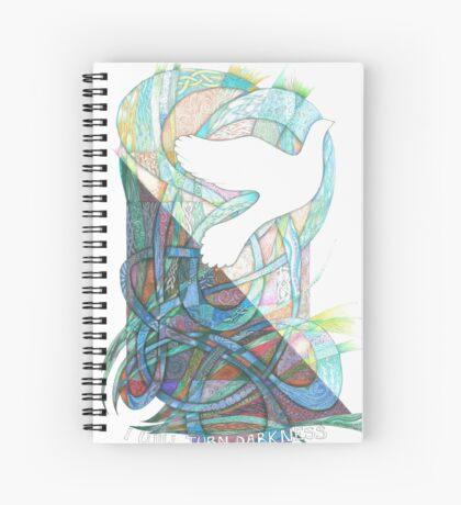 Darkness into Light Spiral Notebook