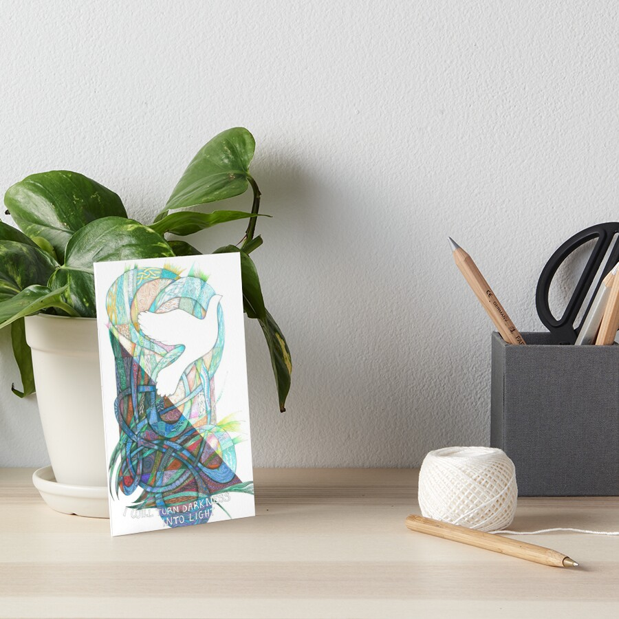 Darkness into Light Art Board Print