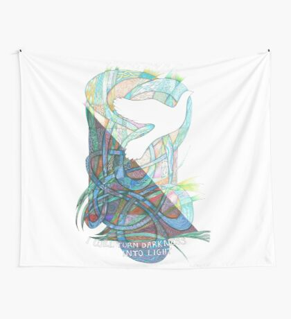 Darkness into Light Wall Tapestry