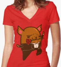Tango Bub Women's Fitted V-Neck T-Shirt