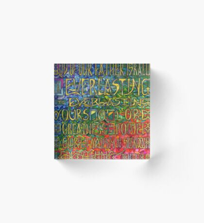 David's Praise Acrylic Block