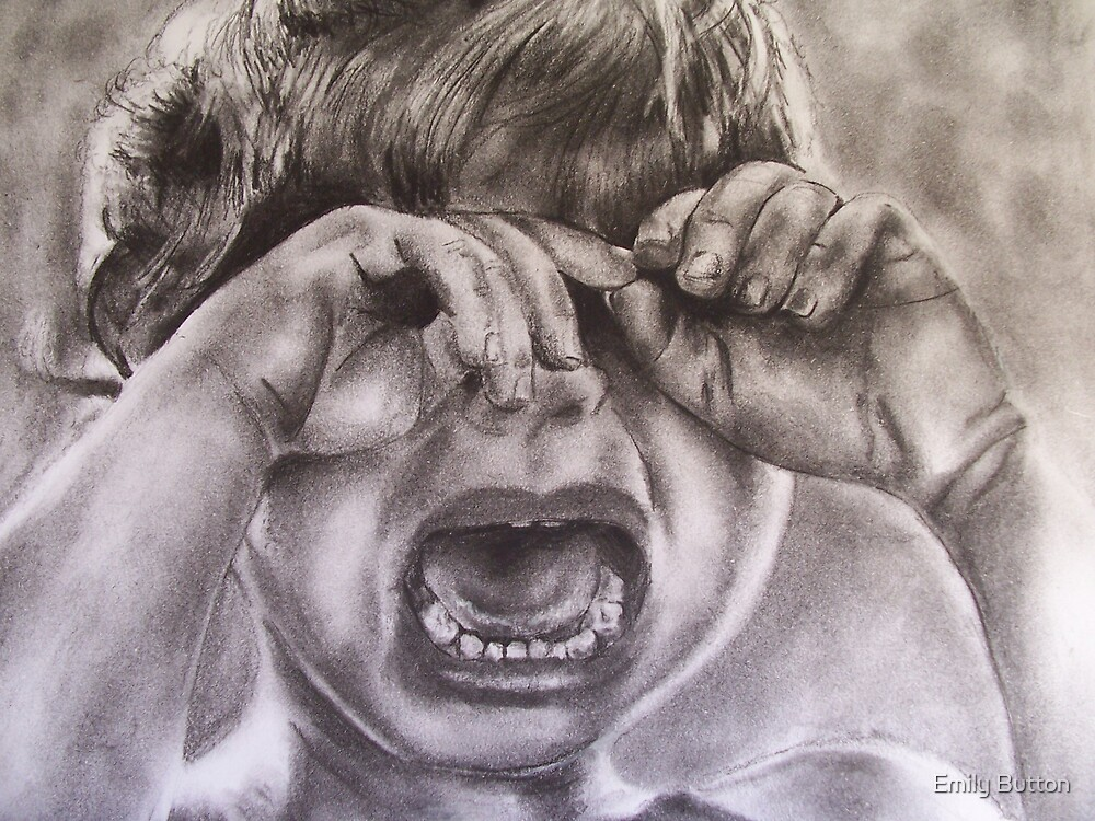 Crying child by Emily Button