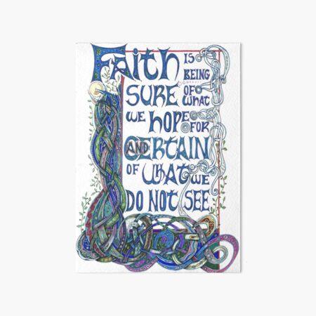Faith Art Board Print