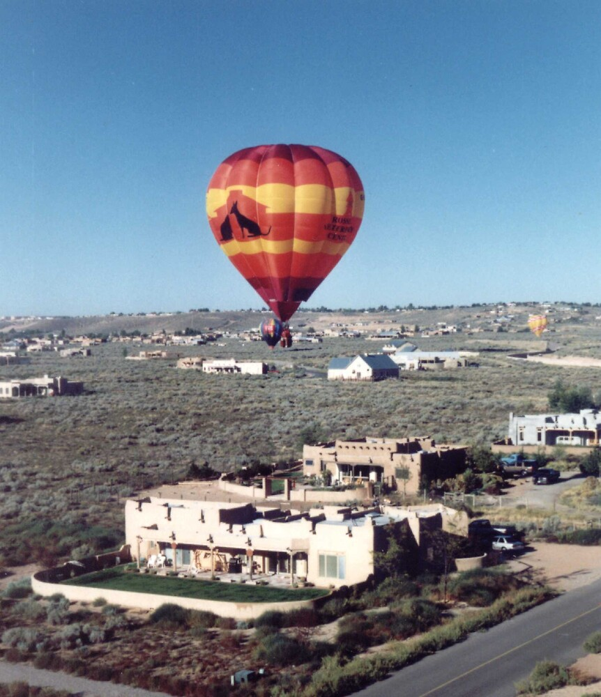 Balloon over Adobe by mkpshay