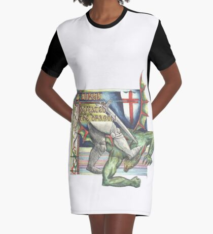 St. George and the Dragon Graphic T-Shirt Dress