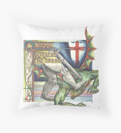 St. George and the Dragon Throw Pillow