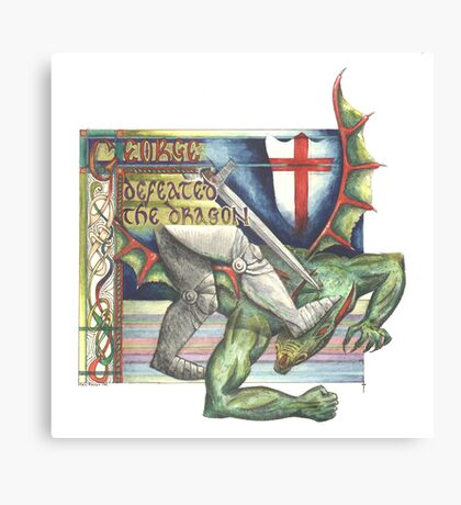 St. George and the Dragon Canvas Print
