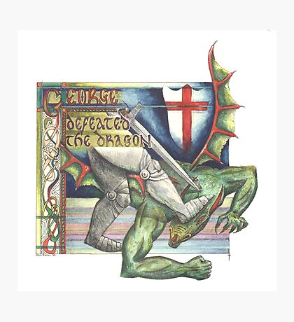 St. George and the Dragon Photographic Print