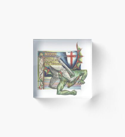 St. George and the Dragon Acrylic Block