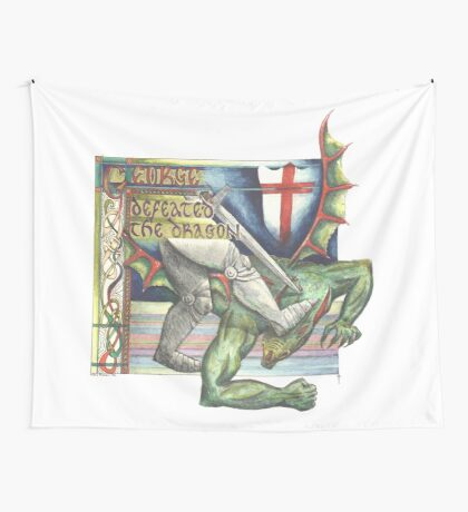 St. George and the Dragon Wall Tapestry
