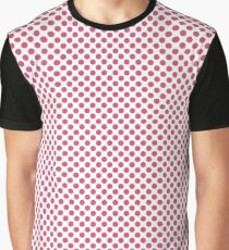 Pink Flambé Polka Dots Graphic T-Shirt