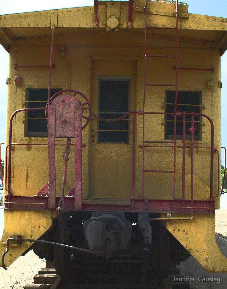 Old Train Caboose by Jennifer  Causley