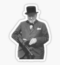 Sir Winston Churchill  Sticker