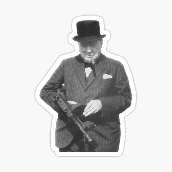 Sir Winston Churchill Pegatina