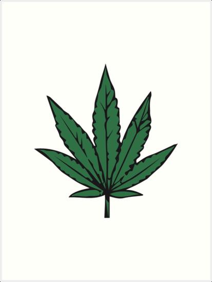 Quot Weed Marijuana Leaf Design Quot Art Prints By Motiv Lady