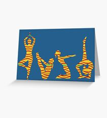 YOGA. FREEDOM STRETCHES IN ROUTINE Greeting Card