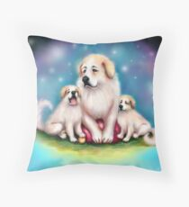 I Love Great Pyrenees Dogs Throw Pillow
